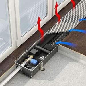 Внутрипольный конвектор  Varmann Qtherm ECO с принудительной конвекцией с тангенциальными вентиляторами